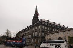丹麦旗子主人修造为自由的所有状态 图库摄影
