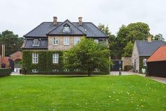 丹麦村庄在Rosenborg 免版税库存图片