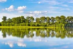 丹麦海岛湖使通配本质海运小的潮汐wadden的水环境美化 库存照片