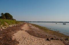 丹麦海滩在一个夏日 库存图片