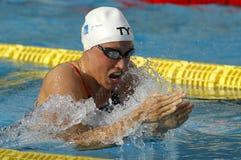 丹麦游泳者Rikke莫勒佩德森 库存图片