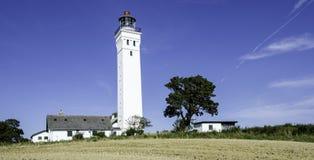 丹麦灯塔 库存照片