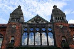 丹麦犹太博物馆的特写镜头-丹斯克Jødisk博物馆,  免版税图库摄影