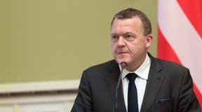 丹麦王国Lars Lokke拉斯姆森的总理 库存图片