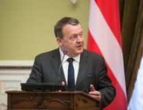 丹麦王国Lars Lokke拉斯姆森的总理 免版税图库摄影