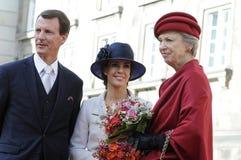丹麦王室到达PARLIAMNT开头 库存照片