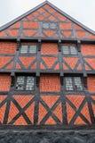 丹麦用木材建造的房子 库存图片
