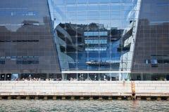 丹麦的国立图书馆是diamant的黑色 免版税库存图片