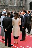 丹麦皇家到达议会开幕式 免版税库存图片