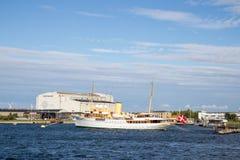 丹麦皇家游艇Dannebrog 库存照片