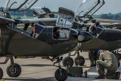 丹麦空军维护的飞机 免版税库存照片