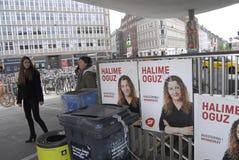 丹麦竞选海报 图库摄影