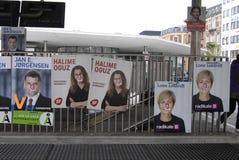丹麦竞选海报 免版税图库摄影