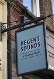 丹麦街的摄政的声音在伦敦 免版税库存照片