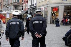 丹麦警察丹斯克POLITI 库存图片