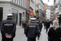 丹麦警察丹斯克POLITI 库存照片