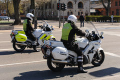 丹麦警察摩托车 库存图片