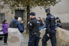 丹麦警察OFFICERS_AND年度预算 库存照片
