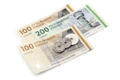 丹麦货币 免版税库存照片