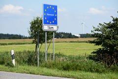 丹麦边界 免版税图库摄影