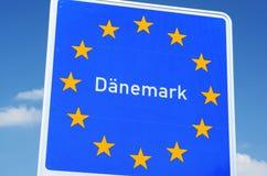 丹麦边界 库存照片