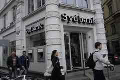 丹麦银行业务系统 库存图片