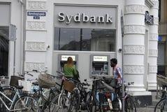 丹麦银行业务系统 库存照片