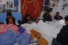 丹麦饥饿阶段罢工泰米尔人 免版税图库摄影