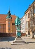 丹麦 哥本哈根 彼泽Griffenfeld雕象 库存图片