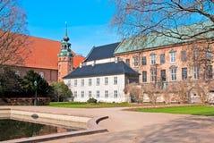 丹麦 哥本哈根 皇家庭院的图书馆 库存图片
