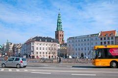 丹麦 哥本哈根 运输在城市的中心 图库摄影