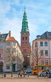 丹麦 哥本哈根 高桥梁正方形 免版税库存图片