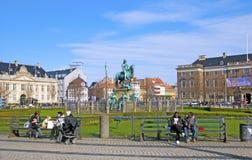 丹麦 哥本哈根 Kongens Nytorv广场 免版税图库摄影