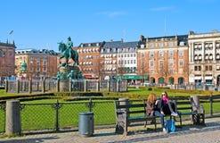 丹麦 哥本哈根 Kongens Nytorv广场 免版税库存照片