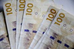 丹麦货币笔记 免版税库存照片