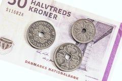 丹麦货币 免版税图库摄影