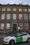 丹麦财政部邀请谷歌十字架地图 库存图片