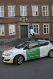 丹麦财政部邀请谷歌十字架地图 库存照片