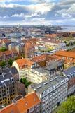丹麦-西兰地区-哥本哈根市中心-全景ae 图库摄影