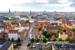 丹麦-西兰地区-哥本哈根市中心-全景ae 免版税库存照片