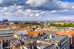 丹麦-西兰地区-哥本哈根市中心-全景ae 免版税图库摄影