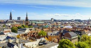 丹麦-西兰地区-哥本哈根市中心-全景ae 库存图片