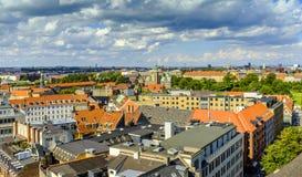 丹麦-西兰地区-哥本哈根市中心-全景ae 免版税库存图片