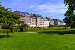 丹麦-西兰地区-哥本哈根市中心-全景vi 免版税库存图片