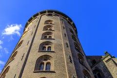 丹麦-西兰地区-哥本哈根市中心-圆的塔, 库存图片