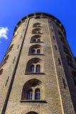 丹麦-西兰地区-哥本哈根市中心-圆的塔, 免版税库存照片