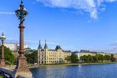 丹麦-西兰地区-哥本哈根市中心- Soerne L 免版税库存照片