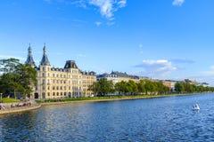 丹麦-西兰地区-哥本哈根市中心- Soerne L 库存图片