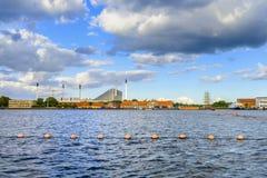 丹麦-西兰地区-哥本哈根的工业区- 库存图片