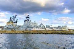 丹麦-西兰地区-哥本哈根-军用大型驱逐舰彼泽S 免版税库存照片